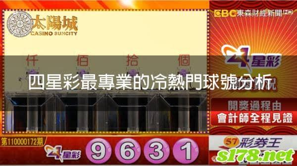 四星彩開獎號碼查詢,最詳細的遊戲介紹,最專業的冷熱門球號分析